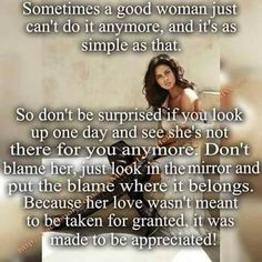 Her Love was made to be Appreciated...
