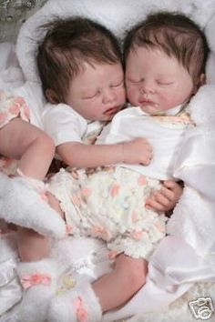 "2 Reborn 20"" Vinyl Doll Kits ~ Sam & Sera ~ Twins by Marissa May 29689"