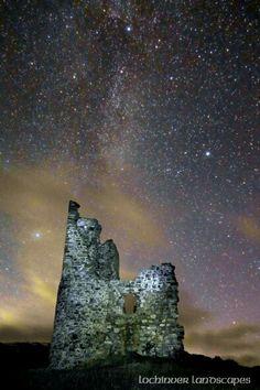 Milky Way over Ardvreck Castle, Assynt, Sutherland, Scotland - lochinver landscapes