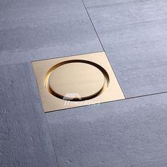 The shower drain seal is composed of brass material, has polished brass finish that keeps surface vivid and exquisite. Dimension of shower drain could be Bathroom Design Layout, Modern Bathroom Design, Contemporary Bathrooms, Bathroom Interior Design, Best Kitchen Design, Design Rustique, Floor Drains, Shower Drain, Brass Material