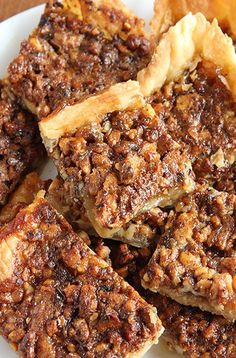 Easy Pecan Pie Bars. Pecan pie in a bite size bar! Crescent roll dough makes this pecan bar recipe simple and quick to prepare.