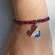 Always red/always blue by Diane Negron on Etsy