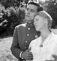 Alain Delon and Romy Schneider. ''Christine'' 1958.