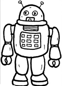 robot coloring pages for kids