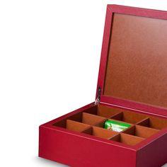 Caja de té 9 divisiones - Koon Artesanos