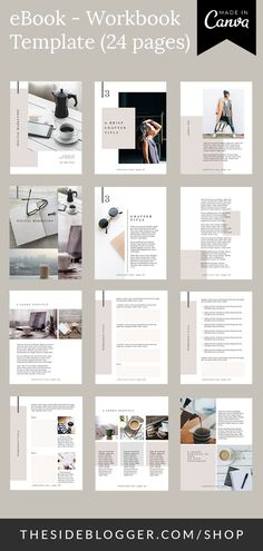 Bloggers and course creators, if you have been looking for creating a document or mini-guide that combines eBook like content pages with worksheets, then this template is for you. #eBook #workbook #template #canva #bloggingresources #bloggers #coursecreators #onlinecourse #worksheets Booklet Design Layout, Page Layout Design, Design Brochure, Magazine Layout Design, Web Design, Book Layout, Layout Template, Magazine Layouts, Design Ideas