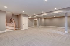 We are a custom home builder in the Washington D. & Northern Virginia including McLean, Falls Church, Arlington and Vienna area, specializing in luxury residential homes. Basement Remodel Diy, Basement Remodeling, Basement Ideas, Dream House Exterior, Dream House Plans, Basement Inspiration, Big Houses, Family Houses, Empty Room