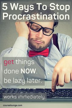 How to stop procrastination and start getting things done. 5 techniques, and even more tips and tricks to overcome procrastination habits. Suitable for entrepreneurs, bloggers and anyone with big dreams and goals. Practical tools and tips to understand why we procrastinate and start getting things done whether it is for business, hobbies, learning or personal projects. Stop Procrastination | Overcome Procrastination | Procrastination Tips Organization Development, Self Organization, Procrastination Quotes, Learning Techniques, Daily Goals, How To Stop Procrastinating, Getting Things Done, 5 Ways, Dream Big