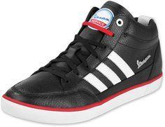 best sneakers f827a fa470 My Adidas Vespa PK Mid Schuhe blackwhitel.scarlet Vespa Roller,