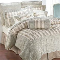 Canyon Crest Elegance 8 Pc Comforter set by canyon crest. $89.99. Bed In A Bag includes 1.One Comforter 2.One Bed Skirt 3.Two Shams 4.4 pc sheet set Fabric: 100% Polyester Color: Ivory and light sage