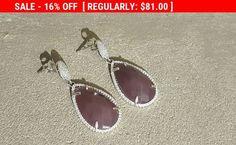 SALE - Purple Tear Drop Earrings, Bridal Drop #jewelry #earrings @EtsyMktgTool http://etsy.me/2hSgTiv