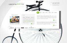 strona wykonana dla agencji marketingowej w oparciu o koncepcje pracy - bicykl