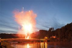When the Wye Valley River Festival blew up the old Chepstow Bridge. Diversions now in place. (Just kidding! Valley River, Festivals, Bridge, Old Things, Clouds, Events, Places, Outdoor, Inspiration