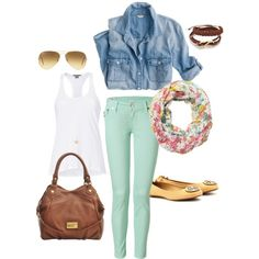 Spring 2013 Mint Skinny Jeans, created by lisantay on Polyvore