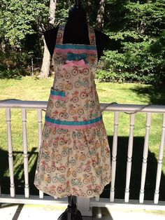 Lovely Vintage Bicycles Apron No 35 by MothersApronString on Etsy