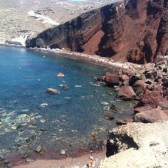 The Red Beach: Best Santorini Beaches Red Beach Santorini, Santorini Beaches, Santorini Island, Santorini Greece, Wonders Of The World, Four Square, Water, Outdoor, Heart