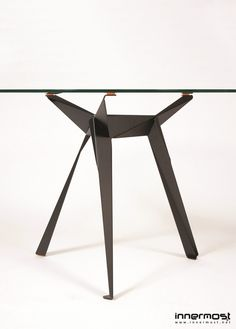 Glass table Round table Origami Collection by Innermost   design Anthony Dickens