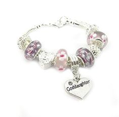 f7f6b5624 Nana Personalised Engraved Pink and Lilac Charm Bracelet Women's Gift Boxed  *** Read more at the image link.