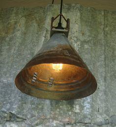 VINTAGE INDUSTRIAL LIGHTING Pendant Steam by VintageArtIndustrial, $85.00