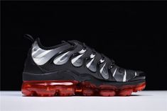 "bea55c40e804 Nike Air Vapormax Plus ""Red Shark Tooth"" Black White Speed Red AQ8632-001"