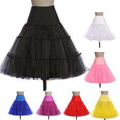 Petticoats 2016 Pink Blue Black White Red Underskirt Crinoline Ball Gown Vintage Wedding Bridal Retro Rockabilly Petticoat - BRIDESMAID DRESSES BRIDAL GOWNS PROM