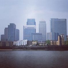 Canary Wharf by boat by ben7884