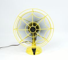 Vintage Electric Fan Yellow and Black. $168.00, via Etsy.