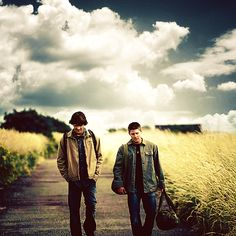 Sam and Dean.. walking places,... important places... to kill some stuff, I assume. Supernatural.