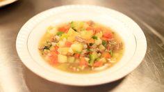 Fersk kjøttsuppe