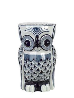 猫头鹰形状陶瓷凳子