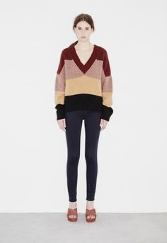 Hughes Sweater - Deep v knit - Multi by M.i.h Jeans