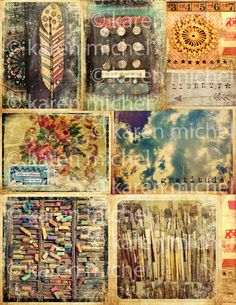 art journal collage sheets