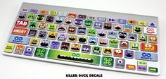 Little Monsters Macbook Keyboard Skin by Killer Duck Decals. Gotta have this! I'm not really a fan of monsters but this is really neat! Up your street cred or style with this!