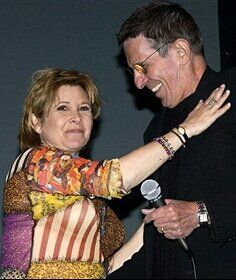 Carrie Fisher and Leonard Nimoy