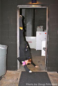 Stretching at Phantom of the Opera 2011