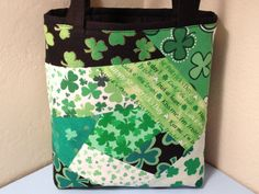 St Patrick's Day Fabric Gift Tote Bag Gift Wrap by HugsandHolidays, $15.00