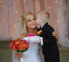 Christiana with Preston Mike on her wedding day.