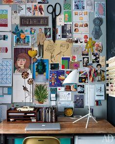 Studio Marcus Hay in Chelsea, Manhattan Bedroom Decor, Wall Decor, Diy Wall, Aesthetic Room Decor, Inspiration Wall, Workspace Inspiration, Desk Inspo, Room Goals, The Design Files