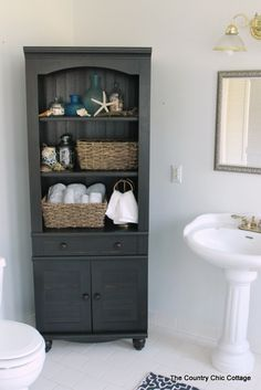 Finding a Bathroom Cabinet - * THE COUNTRY CHIC COTTAGE (DIY, Home Decor, Crafts, Farmhouse)