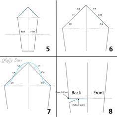 Paso 2 - Cómo redactar una manga - Melly Sews - hacer un patrón de la manga