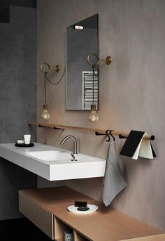 Circus Loop Minimalist Wall Light With Wall Socket - Circus Loop Minimalist Wall Light With Wall Socket – Tudo&Co – Tudo And Co - Bad Inspiration, Bathroom Inspiration, Bathroom Ideas, Bathroom Organization, Restroom Ideas, Bath Ideas, Bathroom Storage, Modern Bathroom, Master Bathroom
