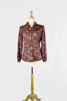 Vintage Graff Californiawear Women's Button Down Shirt Groovy 1970s by ANTIGOs on Etsy