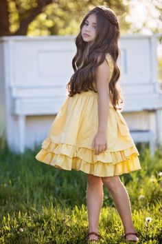 Persnickety Clothing - Daffodils & Dandelions Adeline Dress in Yellow Baby Girl Dress Patterns, Baby Dress, Girls Clothing Brands, Kids Clothing, Persnickety Clothing, Dress Indian Style, Beautiful Little Girls, Stylish Kids, Kind Mode