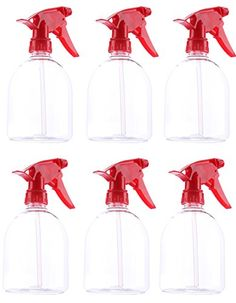Spray Bottle- Durable Hard Plastic 500 Ml 16 Oz Mist Bottle Red Handle - 6 Piece Set Plastic Spray Bottle, Aerosoles, Essential Oil Perfume, Mist Spray, Hard Water, Perfect Pillow, Shopping Hacks, Washing Clothes, How To Memorize Things