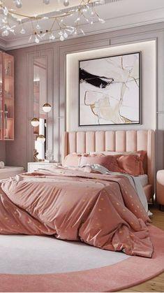 Modern Luxury Bedroom, Luxury Bedroom Design, Room Design Bedroom, Stylish Bedroom, Room Ideas Bedroom, Home Room Design, Luxurious Bedrooms, Home Interior Design, Bedroom Furniture