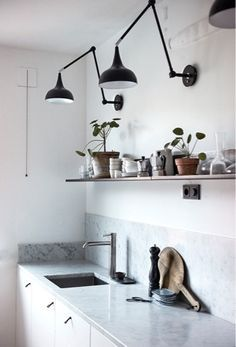 With a lot of shapes and colors, a wall lamp it is always a good choice to complete the decoration of any room! Decor, Kitchen Design, Luxury Home Decor, Kitchen Wall, Interior, Wall Lamps Living Room, Kitchen Interior, Home Decor, House Interior