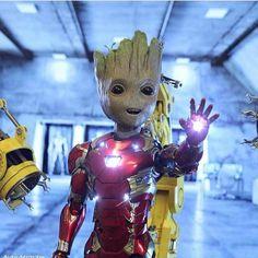 superhero marvel geeks news Groot Avengers, Thanos Avengers, Marvel Avengers Movies, Marvel Art, Marvel Heroes, Marvel Characters, Marvel Comics, Cute Disney Drawings, Cute Drawings