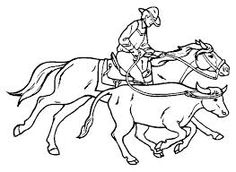 western coloring book page