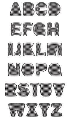 wicker alphabet by chris webster, via Behance