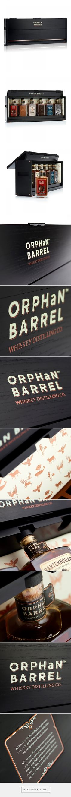 Orphan Barrel Whiskies Collector's Crate packaging by MW Luxury Packaging - http://www.packagingoftheworld.com/2017/06/orphan-barrel-whiskies-collectors-crate.html